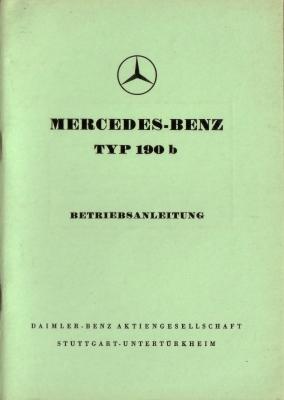 Mercedes-Benz 190b Bedienungsanleitung 7.1959 0