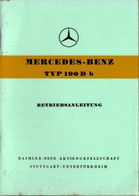 Mercedes-Benz 190 Db Bedienungsanleitung 9.1959 0