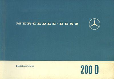 Mercedes-Benz 200 D Bedienungsanleitung 4.1967 0