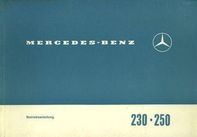 Mercedes-Benz 230 250 Bedienungsanleitung 4.1968 0