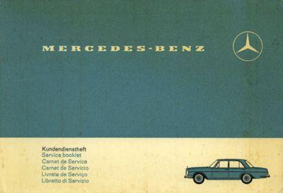 Mercedes-Benz Kundendienstheft 1968 0