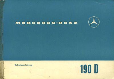 Mercedes-Benz 190 D Bedienungsanleitung 6.1962 0