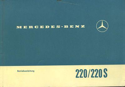 Mercedes-Benz 220 / 220 S Bedienungsanleitung 10.1964 0