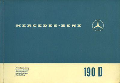 Mercedes-Benz 190 D Bedienungsanleitung 1.1965 0