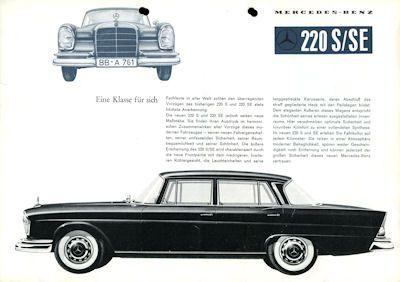 Mercedes-Benz 220 S/SE Prospekt 7.1959 0