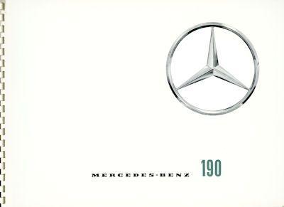 Mercedes-Benz 190 Prospekt 7.1959 0
