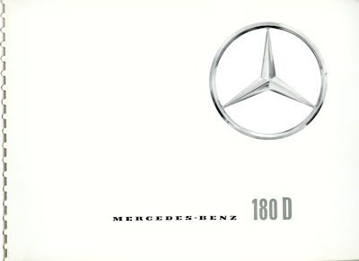 Mercedes-Benz 180 D Prospekt 7.1959 0