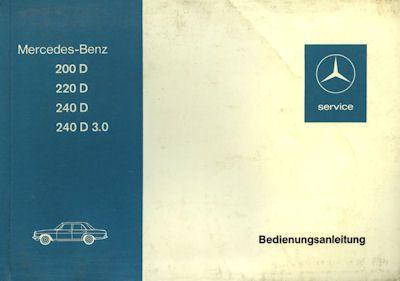 Mercedes-Benz 200 D-240 D 3.0 Bedienungsanleitung 11.1975 0