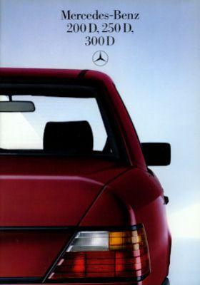 Mercedes-Benz 200 D-300 D Prospekt 1985 0
