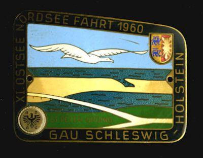 Plakette XI. Ostsee-Nordsee Fahrt 1960 0