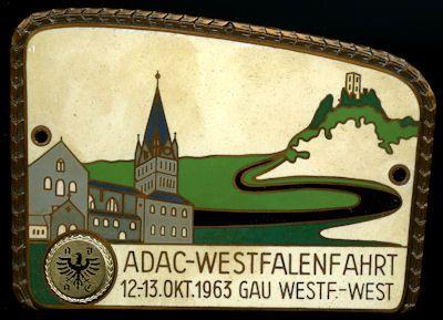 Plakette Westfalenfahrt 1963 0