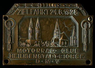 Plakette Heiligenstadt 24.6.1928 0