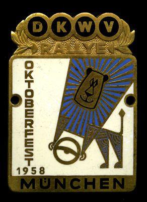 Plakette München 1958 0