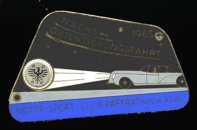 Plakette MSC Paffrath 1963 0