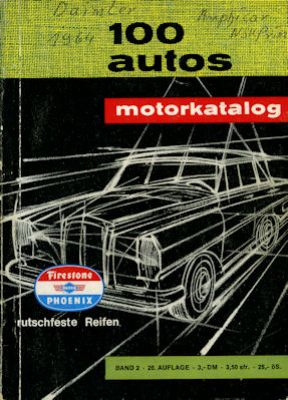 Motorkatalog 100 Autos Band 2 1964 0