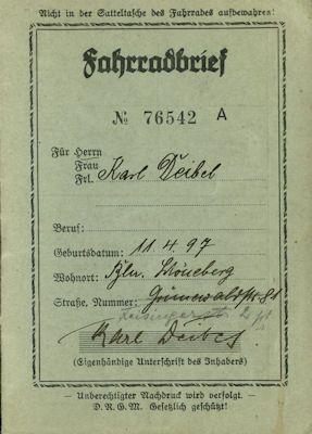 NSU Fahrradbrief 1940 0