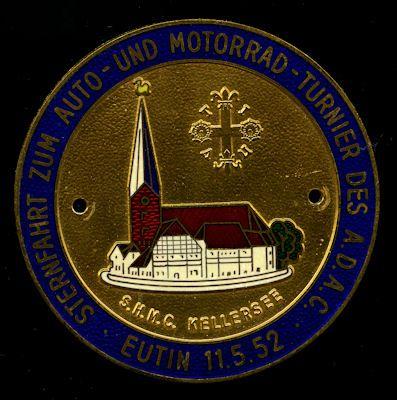 Plakette Sternfahrt Eutin 1952 0
