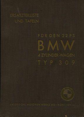 BMW 309 22 PS Ersatzteilliste 12.1934 0