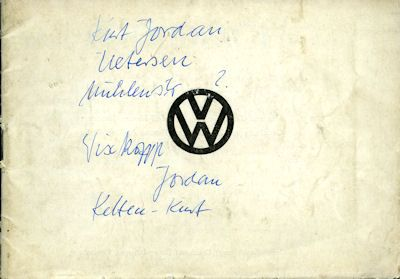 VW Broschüre ca. 1950