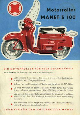 Manet S 100 Roller Prospekt 1960er Jahre 0