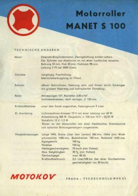 Manet S 100 Roller Prospekt 1960er Jahre 1