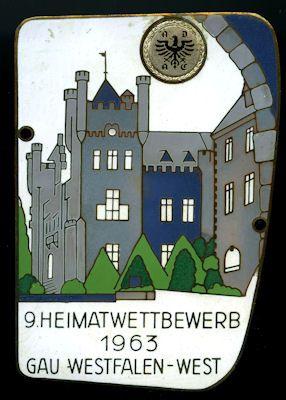 Plakette Westfalen-West 1963 0