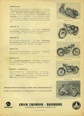 Ardie / Dürkopp Programm 9.1955 1