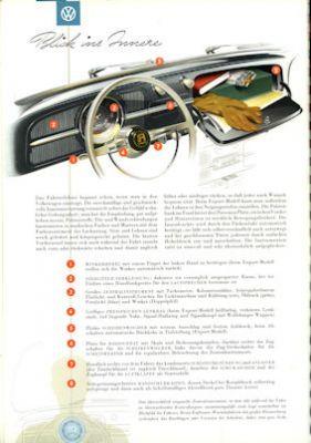 VW Käfer Prospekt 1956 2