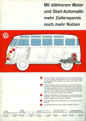 VW 34 PS Motoren Prospekt ca. 7.1960 1