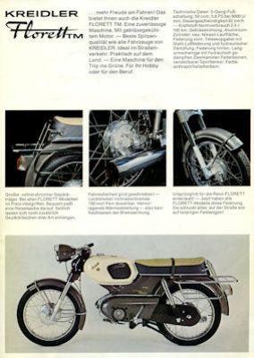 Kreidler Florett Prospekt 9.1971 2