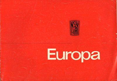 NSU-Fiat Europa Prospekt ca. 1965 0