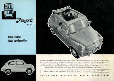 NSU-Fiat Jagst Prospekt 1958