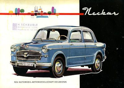 NSU-Fiat Neckar und Sport Cabriolet Prospekt 11.1956