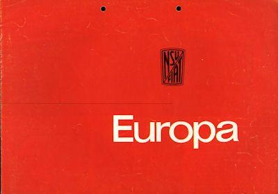 NSU-Fiat Europa Prospekt 12.1963