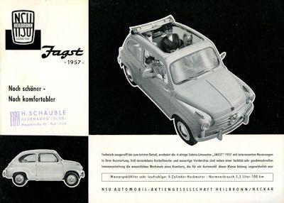 NSU-Fiat Jagst Prospekt 1957