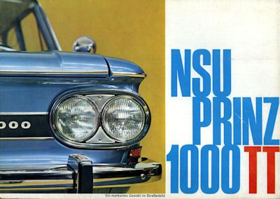 NSU Prinz 1000 TT Prospekt 10.1965