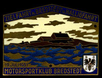 Plakette Bredstedt u. Haligfahrt 19.7.1931 0
