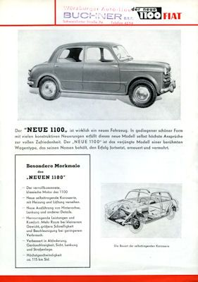 Fiat 1100 Prospekt 1953