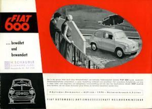 Fiat 600 Prospekt 1957