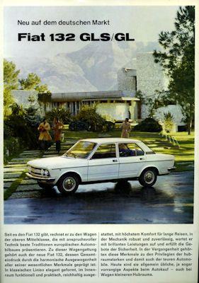 Fiat 132 GLS / GL Prospekt 1974 0
