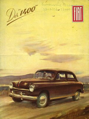 Fiat 1400 Prospekt 1950 0