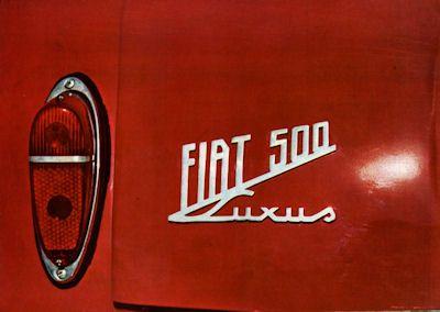 Fiat 500 Prospekt 1959