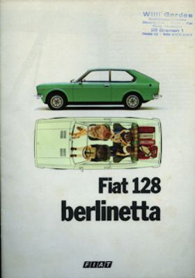 Fiat 128 Berlinetta Prospekt 9.1975 0