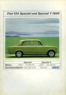 Fiat 124 Special Prospekt ca. 1970