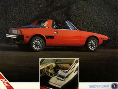 Fiat X 1/9 Bertone Prospekt 5.1984 0