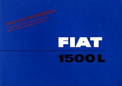 Fiat 1500 L Prospekt 1964