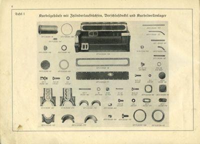 Einheits-Dieselmotor für l.Lkw D 661/3 Ersatzteilliste 4.1939 2
