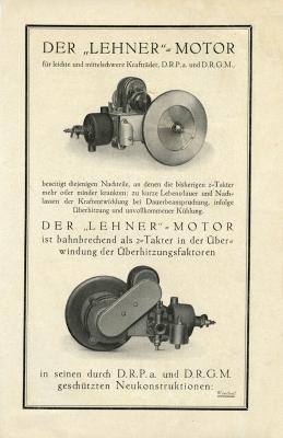 Tarzan und Lehner Motoren Prospekt 1924 2