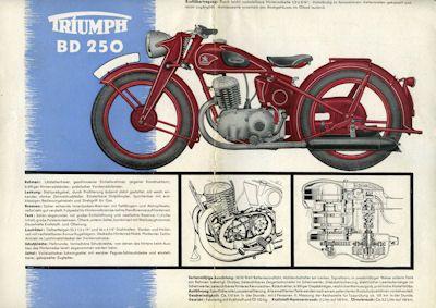 Triumph BD 250 Prospekt 1939 1