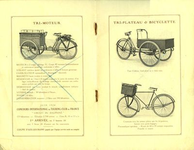 Ducom Fahrrad und Fahrradmotor Prospekt 1920er Jahre 2